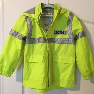 """SUPER CUTE CARTER'S """"POLICE"""" JACKET. SIZE 4T."""